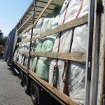LKW mit mangelhafter Ladungssicherung auf der A14