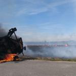 Strohpresse in Pietzpuhl im Jerichower Land brannte