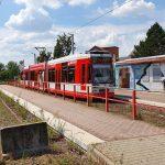 Straßenbahn in Bad Dürrenberg kollidiert mit Mülltonne
