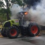 Traktor auf der B188 abgebrannt