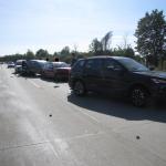 Auffahrunfall auf der A14 bei Magdeburg mit 6 Beteiligten Fahrzeugen und 4 leichtverletzten Personen