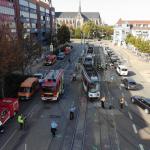 Verkehrsunfall mit zwei Straßenbahnen in Halberstadt - 10 Verletzte - 400.000 Euro Schaden