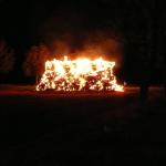 Strohdiemen in Baalberge brannte