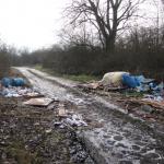 Abfall in der Feldmark bei Barneberg in der Börde entsorgt