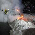 Brennendes Auto in Zeitz