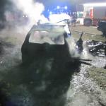 PKW-Brand in Tangermünde: Unbekannte zünden Übungsauto der Feuerwehr an