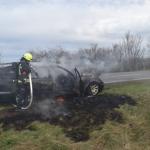 PKW auf der A36 in Schmatzfeld im Harz brannte