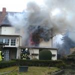 Doppelhaushälfte in Schermcke in der Börde brannte, zwei Senioren schwer verletzt