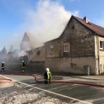 Verletzter bei Brand eines Einfamilienhauses in Haus Nienburg im Harz
