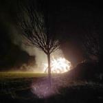Strohballen und Holzstapel brannten in Bad Dürrenberg - zwei Verdächtige festgenommen