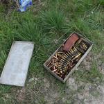 Munition lag bei Tangerhütte in der Altmark am Wegesrand