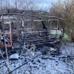 Wohnwagen in Schwanebeck im Harz abgebrannt