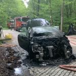 Auto in Ilsenburg abgebrannt - vermutlich technischer Defekt