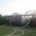 Geräteschuppen in Rohrberg in der Altmark brannte