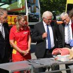 Bundespräsident Frank-Walter Steinmeier zu Besuch bei der DLRG in Bitterfeld-Wolfen